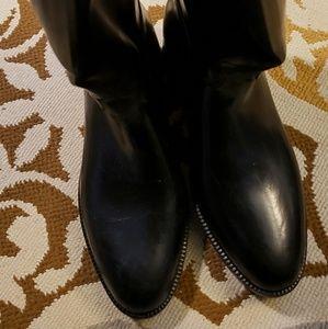 Aigle black equestrian tall riding boots